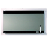 Whitehaus AEM100N Aeri Wood Frame Rectangular Wall Mount Mirror with Wood Shelf.