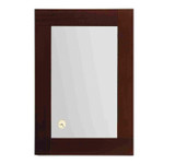 Whitehaus AMET02 Antonio Miro Rectangular Mirror with Wood Frame and Built in Clock.