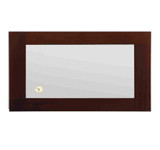 Whitehaus AMET03 Antonio Miro Rectangular Mirror with Wood Frame and Built in Clock.