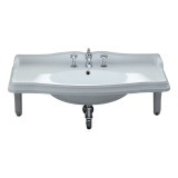 Whitehaus AR864-MNSLEN-1H Large Rectangular Bathroom Sink with Single Faucet Hole.
