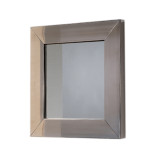 Whitehaus WHE5M New Generation Square Mirror with Stainless Steel Frame