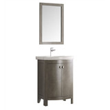 "Fresca Greenwich 24"" Traditional Bathroom Vanity Set in Antique Silver"
