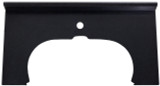 """American Imaginations 33"""" W x 17"""" D Granite Top in Black Color for Single Hole Faucet"""