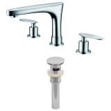 """American Imaginations 8"""" o.c. CUPC Approved Brass Faucet Set in Chrome Color w/ Drain"""
