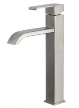 American Imaginations Deck Mount CUPC Approved Brass Faucet in Stainless Steel Color