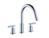 """American Imaginations 8"""" o.c. CUPC Approved Brass Faucet in Chrome Color"""