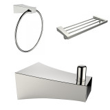 American Imaginations Robe Hook, Multi-Rod Towel Rack & Towel Ring Accessory Set