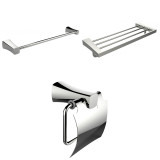 American Imaginations Single & Multi-Rod Towel Racks w/ Toilet Paper Holder Accessory Set