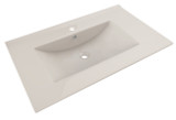 "American Imaginations 35.5"" W x 19.75"" D Ceramic Top in Biscuit Color for Single Hole Faucet"