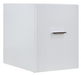 "American Imaginations 14"" W x 17.8"" H Modern Plywood-Veneer Modular Drawer in White"