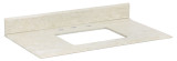"American Imaginations 36"" W x 19.5"" D Marble Top in Beige Color for 8"" o.c. Faucet"