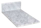 "American Imaginations 11.75"" W x 19"" D Marble Top in Bianca Carara Color for 8"" o.c. Faucet"