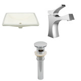 """American Imaginations 18.25""""W x 13.5""""D CUPC Rectangle Undermount Sink Set in Biscuit"""