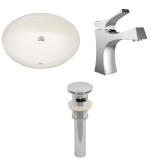 """American Imaginations 19.25""""W x 16""""D CUPC Oval Undermount Sink Set in Biscuit"""