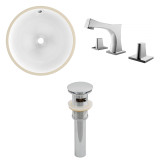 "American Imaginations 15.75""W x 15.75""D CUPC Round Undermount Sink Set in White"