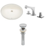 """American Imaginations 19.75""""W x 15.75""""D CUPC Oval Undermount Sink Set in Biscuit"""