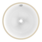 "American Imaginations 15.25"" W x 15.25"" D Round Undermount Sink in White Color"