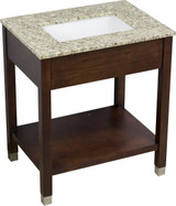 American Imaginations Birch Wood-Veneer Vanity Set in Cherry