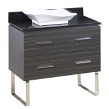 American Imaginations Plywood-Melamine Vanity Set in Dawn Grey