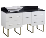 American Imaginations Plywood-Veneer Vanity Set in White