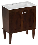 "American Imaginations 30"" Birch Wood-Veneer Single Sink Vanity Set in Antique Walnut"