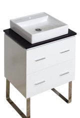 American Imaginations Plywood-Veneer Vanity Set in White w/ Single Hole CUPC Faucet