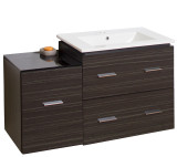 American Imaginations Plywood-Melamine Vanity Set in Dawn Grey w/ Single Hole CUPC Faucet