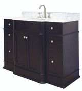 "American Imaginations Granicus 50"" Birch Wood-Veneer Single Sink Vanity Set in Dark Mahogany"