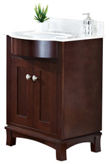 "American Imaginations Birch Wood-Veneer Vanity Set in Coffee w/ 8"" o.c. CUPC Faucet"