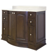 "American Imaginations Birch Wood-Veneer Vanity Set in Walnut w/ 8"" o.c. CUPC Faucet"