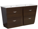 American Imaginations Plywood-Melamine Vanity Set in Wenge w/ Single Hole CUPC Faucet