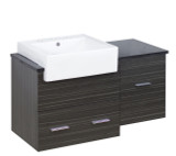 "American Imaginations Plywood-Melamine Vanity Set in Dawn Grey w/ 8"" o.c. CUPC Faucet"