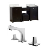 "American Imaginations Birch Wood-Veneer Vanity Set in Distressed Antique Walnut w/ 8"" o.c. CUPC Faucet"