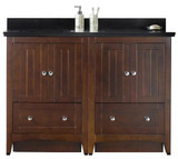 American Imaginations Plywood-Veneer Vanity Set in Walnut