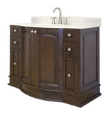 "American Imaginations 49"" W x 21"" D Traditional Birch Wood-Veneer Vanity Base Only in Walnut"
