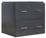 "American Imaginations 23.25"" W x 17.25"" D Modern Wall Mount Plywood-Melamine Vanity Base Only in Dawn Grey"