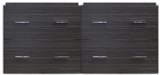 "American Imaginations 46.5"" W x 17.25"" D Modern Wall Mount Plywood-Melamine Vanity Base Only in Dawn Grey"