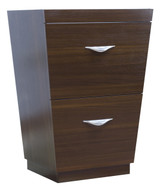"""American Imaginations 23.25"""" W x 18"""" D Modern Plywood-Melamine Vanity Base Only in Wenge"""