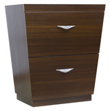"""American Imaginations 29"""" W x 18"""" D Modern Plywood-Melamine Vanity Base Only in Wenge"""