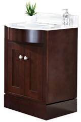American Imaginations Transitional Birch Wood-Veneer Vanity Base Set Only in Coffee