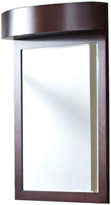 "American Imaginations 24"" W x 36"" H Transitional Birch Wood-Veneer Wood Mirror in Coffee"
