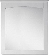 "American Imaginations 30"" W x 31.5"" H Modern Plywood-Veneer Wood Mirror in White"