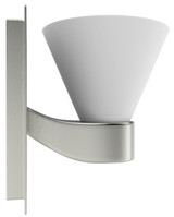 """American Imaginations 5"""" W Square Brass Wall Mount Wall Sconce in Brushed Nickel Color"""