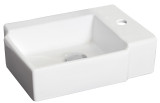 "American Imaginations 16.25"" W x 11.75"" D Above Counter Rectangle Vessel in White Color for Single Hole Faucet"