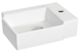 """American Imaginations 16.25"""" W x 11.75"""" D Wall Mount Rectangle Vessel in White Color for Single Hole Faucet"""