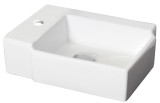 """American Imaginations 16.25"""" W x 11.75"""" D Above Counter Rectangle Vessel in White Color for Single Hole Faucet"""