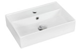 """American Imaginations 19.75"""" W x 13.75"""" D Wall Mount Rectangle Vessel in White Color for Single Hole Faucet"""