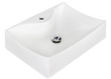 """American Imaginations 21.5"""" W x 15.75"""" D Wall Mount Rectangle Vessel in White Color for Single Hole Faucet"""