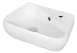 """American Imaginations 17.5"""" W x 11"""" D Wall Mount Unique Vessel in White Color for Single Hole Faucet"""