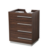 "Fresca Livello 24"" Walnut Modern Bathroom Cabinet"